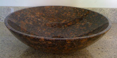 Tan Brown Granite Vessel Bowl