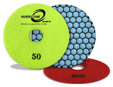 "Hurricane: 4"" Dry Polishing Pad (100 Grit)"