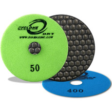 "Cyclone: 4"" Dry Polishing Pad (50 Grit)"