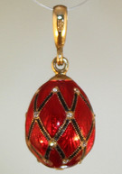 Red pendant with Gold bale