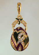 l  PurpleGreen pendant with gold bail