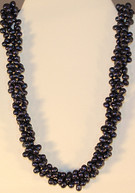 Cultured Fresh-water Navy Pearl Strand