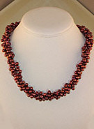 Cultured Fresh-water Rosewood Pearl Strand