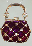 Harlequin Purse Locket with Surprise