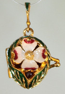 Dogwood Locket with Cardinal Surprise
