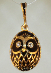 Black and Gold Wise Owl