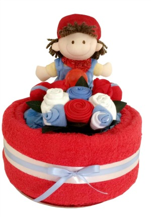 baby boy nappy cake 1 tier