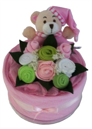 Nappy Cake Baby girl pink ,white and lime green-.jpg