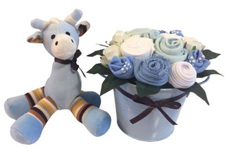 Twinkles baby boy bouquet bucket