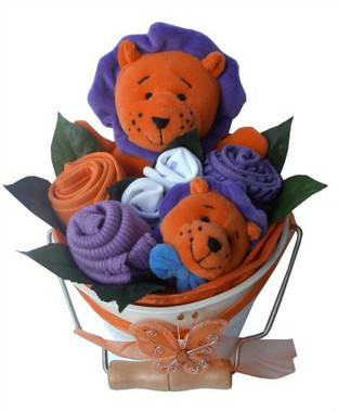 Baby bouquet bucket