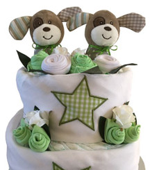 NAPPY CAKE TWIN UNISEX PUPPY
