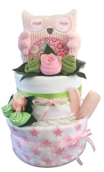 Adorable Girl Nappy Cake Owl