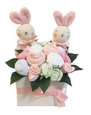 baby clothing bouquet twin baby girls gift