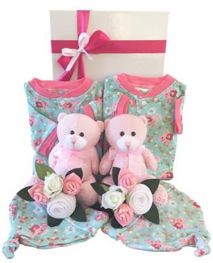 Twin Baby Girl Gift Box