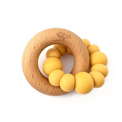 Blok wooden teether yellow