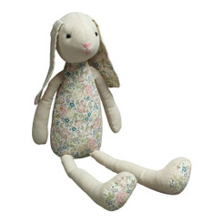 NATURAL & FLORAL BUNNY TOY