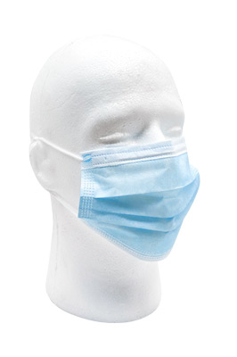 PPE Disposable Blue Face Masks Adult Size 10 Pack
