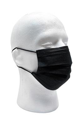 Black Non Medical Disposable Adult Face Masks 50 Box