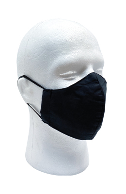 Reusable Cotton Masks Black 3 Pack
