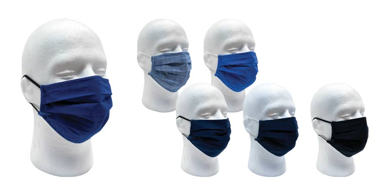 PPE Washable Cotton Face Masks 3 Pack Nose Wire