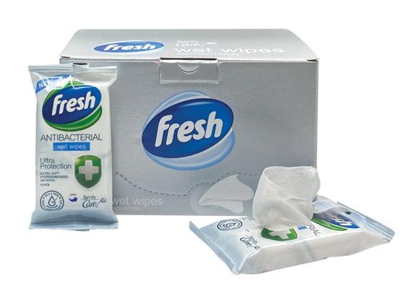PPE Antibacterial Wet Wipes Pack Box