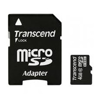 Transcend Micro SD Card 4GB - Class 10 With Adapter