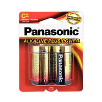 Panasonic Alkaline Plus C Batteries 2pk