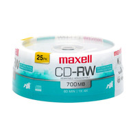 Maxell CD-RW Rewritable 25pk CDRW80