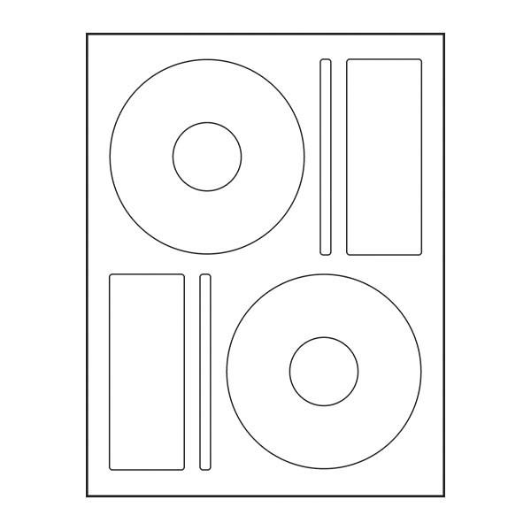 Adtec Labels 2 Up Memorex CD-DVD 100pk