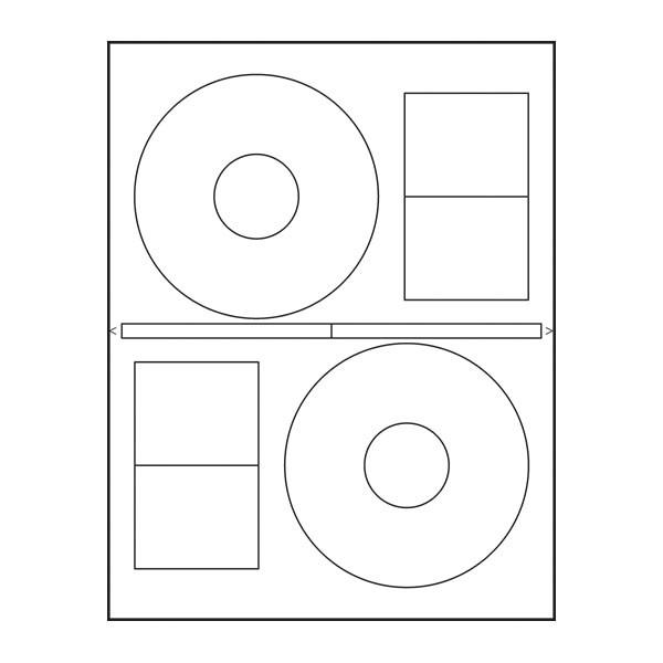 Adtec Labels 2 Up Stomper CD-DVD 100pk