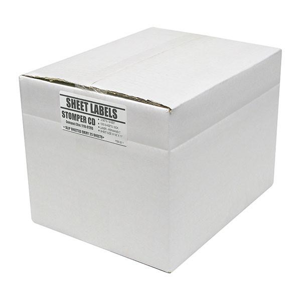 Adtec Labels 2 Up Stomper CD-DVD Box of 2000