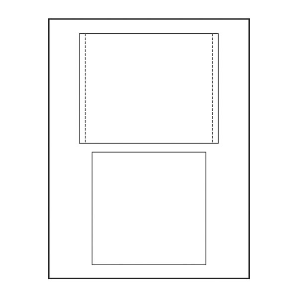 Adtec CD Insert Face and Tray Card Combo 25pk
