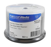 CDR Falcon Media White Inkjet Hub Printable Water Repellent 300pk (646) - matte finish