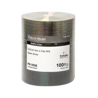 Falcon Corporate Grade DVD-R 16X Silver Lacquer with Metalized Hub (550) - 100PK | PN 0550