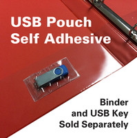 USB SOFT POLY ADHESIVE BACKED POUCH 150/PK