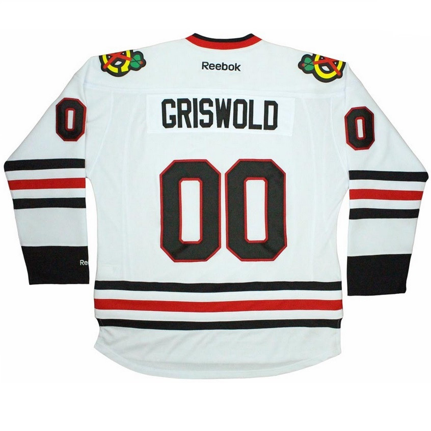 809a338ad ... Griswold Blackhawks Jersey on Model .