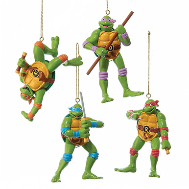 Retro Teenage Mutant Ninja Turtles Christmas Ornaments