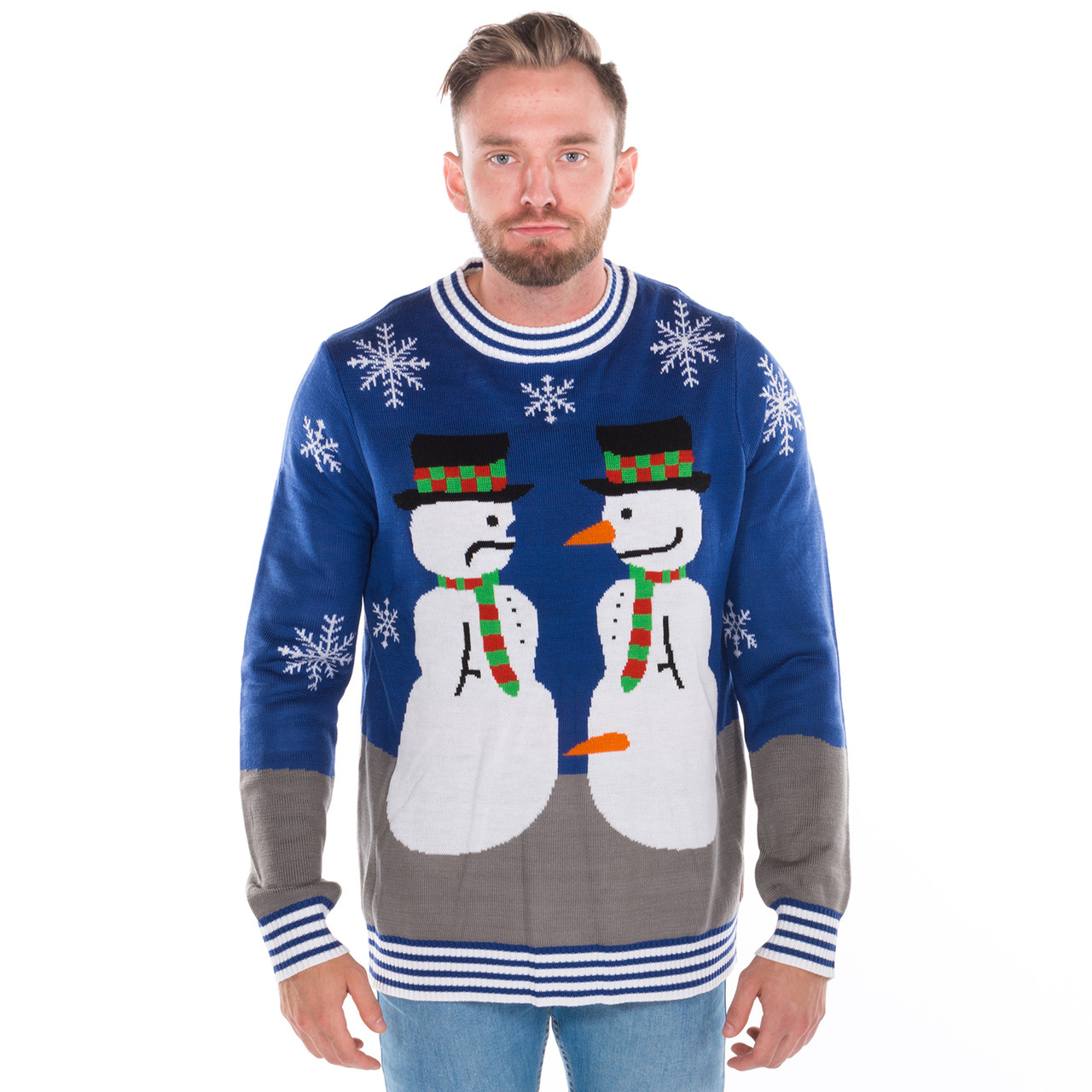 Ugly Christmas Sweaters Funny Snowman Canada | RetroFestive.ca