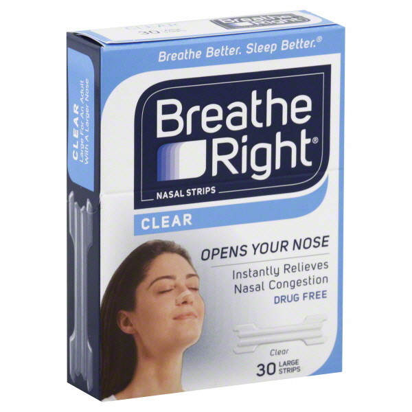 Breathe right throat strips think