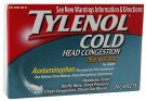 Tylenol Cold Head Congestion Severe 24ct -Catalog