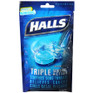 Halls Cough Drops Bag Ice Peppermint 30ct -Catalog
