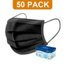 3-Ply Ear Loop Mask 50ct - Black (Box Design May Vary) -Catalog