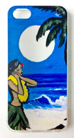 "This ""Moonlight Prayer"" iPhone 5 case by Drew Toonz is part of our brand new 9th Wave Gallery Limited Edition iPhone 5 cell case series we just released in collaboration with Simma Creative - Island Brand. Features a unique new texture that gives the feeling of canvas just like the original artwork. The durable clear base protects your phone if dropped by utilizing a special shock resistant flexible soft case. The artwork is also protected with a long lasting UV coating that prevents fading from prolonged exposure to the sun."