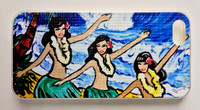 "This ""Three Hula Girls"" iPhone 5 case by Drew Toonz is part of our brand new 9th Wave Gallery Limited Edition iPhone 5 cell case series we just released in collaboration with Simma Creative - Island Brand. Features a unique new texture that gives the feeling of canvas just like the original artwork. The durable clear base protects your phone if dropped by utilizing a special shock resistant flexible soft case. The artwork is also protected with a long lasting UV coating that prevents fading from prolonged exposure to the sun."