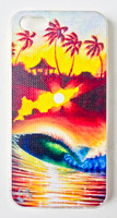 "This ""Burst of Power"" iPhone 5 case by Patrick Parker is part of our brand new 9th Wave Gallery Limited Edition iPhone 5 cell case series we just released in collaboration with Simma Creative - Island Brand. Features a unique new texture that gives the feeling of canvas just like the original artwork. The durable clear base protects your phone if dropped by utilizing a special shock resistant flexible soft case. The artwork is also protected with a long lasting UV coating that prevents fading from prolonged exposure to the sun."