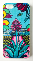 "This ""Bee Serenade"" iPhone 5 case by Shannon O'Connell is part of our brand new 9th Wave Gallery Limited Edition iPhone 5 cell case series we just released in collaboration with Simma Creative - Island Brand. Features a unique new texture that gives the feeling of canvas just like the original artwork. The durable clear base protects your phone if dropped by utilizing a special shock resistant flexible soft case. The artwork is also protected with a long lasting UV coating that prevents fading from prolonged exposure to the sun."