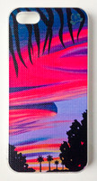 "This ""Ewa Beach Sunset"" iPhone 5 case by Shannon O'Connell is part of our brand new 9th Wave Gallery Limited Edition iPhone 5 cell case series we just released in collaboration with Simma Creative - Island Brand. Features a unique new texture that gives the feeling of canvas just like the original artwork. The durable clear base protects your phone if dropped by utilizing a special shock resistant flexible soft case. The artwork is also protected with a long lasting UV coating that prevents fading from prolonged exposure to the sun."