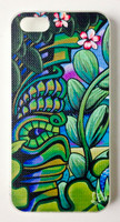 "This ""Tiki Reef"" iPhone 5 case by Shannon O'Connell is part of our brand new 9th Wave Gallery Limited Edition iPhone 5 cell case series we just released in collaboration with Simma Creative - Island Brand. Features a unique new texture that gives the feeling of canvas just like the original artwork. The durable clear base protects your phone if dropped by utilizing a special shock resistant flexible soft case. The artwork is also protected with a long lasting UV coating that prevents fading from prolonged exposure to the sun."