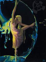 Take Your Best Shot, I Dance On Miracles - Mini Giclee - By Danielle Zirkelbach Fenwick