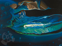Water Drives Nature - Mini Giclee - By Danielle Zirkelbach Fenwick